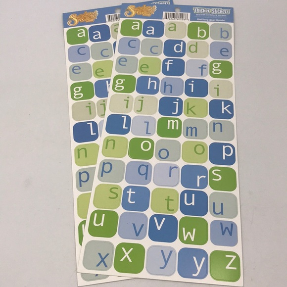 Scrapbook Kiwi Berry Square Alphabet Sticker Set